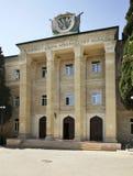 Palácio da cultura em Lokbatan perto de Baku azerbaijan imagens de stock