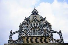 Palácio da cultura em medellin, Colômbia fotografia de stock royalty free