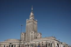 Palácio da cultura em Varsóvia imagens de stock royalty free