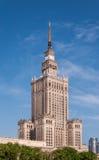 Palácio da cultura em Varsóvia, Polônia imagem de stock