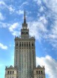 Palácio da cultura Varsóvia imagens de stock royalty free