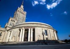 Palácio da cultura Varsóvia fotos de stock
