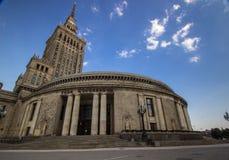 Palácio da cultura Varsóvia fotografia de stock royalty free