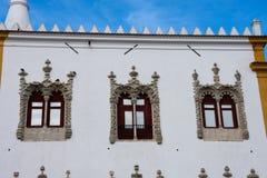 Palácio da fachada Palacio Nacional de SIntra de Sintra Foto de Stock
