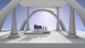 Palácio da opinião de oceano Fotografia de Stock
