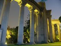 Palácio das belas artes na noite fotos de stock