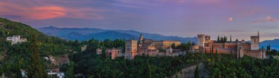 Palácio de Alhambra em Granada, Spain imagens de stock royalty free