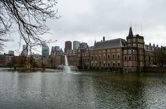 Palácio de Binnenhof - Parlament holandês Fotos de Stock