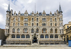 Palácio de Botines em Leon, Castilla y Leon Fotografia de Stock Royalty Free