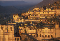 Palácio de Bundi no nascer do sol Fotos de Stock Royalty Free