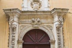 Palácio de Caputo. Tricase. Puglia. Itália. fotos de stock