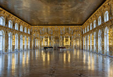 Palácio de Catherine do salão de baile foto de stock royalty free