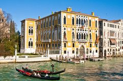 Palácio de Cavalli Franchetti em Veneza, Italy Fotografia de Stock Royalty Free