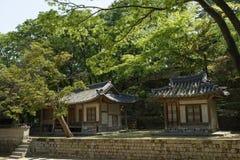 Palácio de Changdeok - jardim secreto, Coreia do Sul Foto de Stock Royalty Free