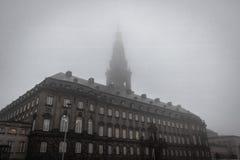 Palácio de Christiansborg em Copenhaga imagens de stock
