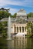 Palácio de cristal cristal de Palacio de no parque de Buen Retiro - Madri Fotos de Stock