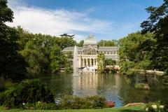 Palácio de cristal cristal de Palacio de no parque de Buen Retiro - Madri Fotografia de Stock Royalty Free