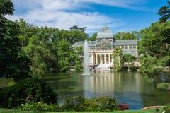 Palácio de cristal cristal de Palacio de no parque de Buen Retiro - Madri Imagem de Stock Royalty Free