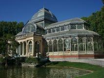 Palácio de cristal Madrid imagens de stock