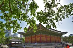 Palácio de Deoksugung, Seoul, Coreia Imagem de Stock