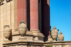 Palácio de detalhes das belas artes Foto de Stock