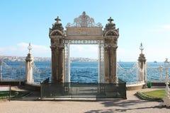 Palácio de Dolmabahce Sarayi em Istambul Fotos de Stock