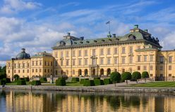 Palácio de Drottningholm, Sweden Imagem de Stock Royalty Free