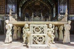 Palácio de Golestan do patrimônio mundial do UNESCO em Tehran, Irã Foto de Stock