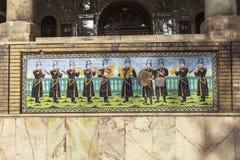Palácio de Golestan em Tehran, Irã fotografia de stock royalty free