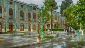 Palácio de Golestan em um dia chuvoso imagem de stock royalty free