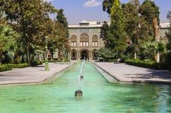 Palácio de Golestan, um local da herança do UNESCO em Tehran, Irã fotografia de stock