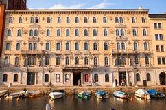 Palácio de Gopcevich, Trieste Imagem de Stock
