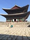 Palácio de Gyeongbokgung em Seoul fotos de stock
