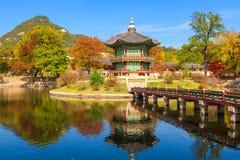 Palácio de Gyeongbokgung em Seoul, Coreia fotografia de stock royalty free