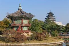 Palácio de Gyeongbokgung em Seoul, Coreia imagem de stock royalty free