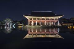 Palácio de Gyeongbokgung em Seoul, Coreia do Sul fotografia de stock royalty free