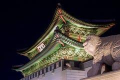 Palácio de Gyeongbokgung em Seoul, Coreia do Sul imagem de stock