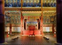 Palácio de Gyeongbokgung na noite imagem de stock