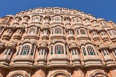 Palácio de Hawa Mahal dos ventos em Jaipur Fotografia de Stock