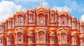 Palácio de Hawa Mahal em Jaipur, Rajasthan Foto de Stock Royalty Free
