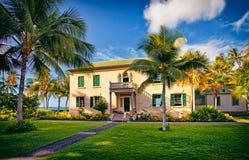 Palácio de Hulihee, cidade de Kailua, costa de Kona, ilha grande Havaí Fotos de Stock Royalty Free