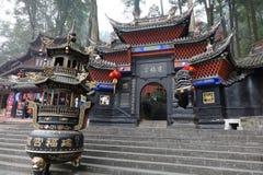 Palácio de Jianfu na montanha de Qingcheng imagens de stock royalty free