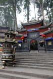 Palácio de Jianfu na montanha de Qingcheng foto de stock
