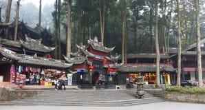 Palácio de Jianfu na montanha de Qingcheng fotografia de stock
