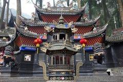 Palácio de Jianfu na montanha de Qingcheng imagem de stock