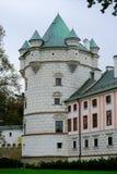 Palácio de Krasicki em Krasiczyn O castelo pertenceu a diversas famílias polonesas nobres, e foi visitado por muitos reis polones imagens de stock