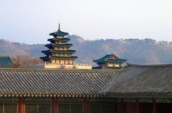 Palácio de Kyongbokkung, Seoul Coreia Fotos de Stock Royalty Free