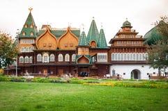 Palácio de madeira de Tsar Alexei Mikhailovich foto de stock
