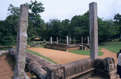 Palácio de Mahasen, Anuradhapura Sri Lanka Fotos de Stock