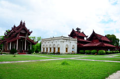 Palácio de Mandalay em Mandalay, Myanmar Foto de Stock Royalty Free